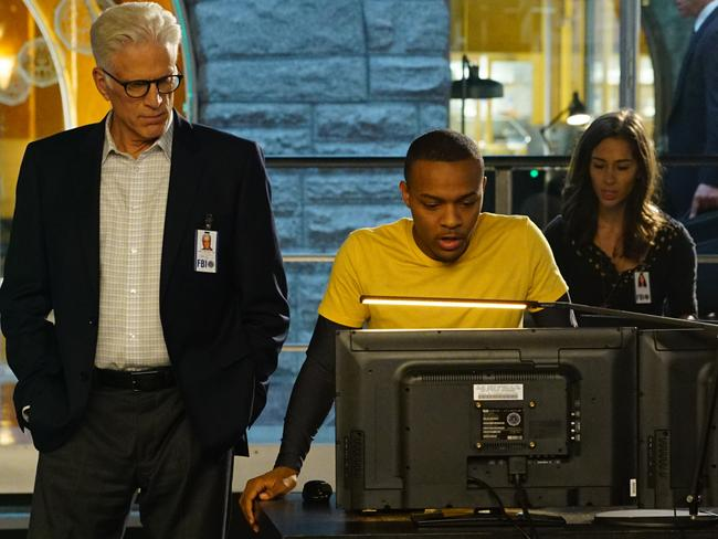 'Where's the blood' ... Ted Danson's CSI character D.B. Russell joins Brody Nelson (Bow Wow Shad Moss) in CSI: Cyber. Picture: Richard Cartwright / CBS