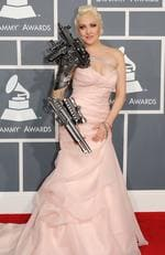 Singer Sasha couldn't decide whether she wanted to look more like a Transformer or a Hollywood starlet at the 2012 Grammy Awards. Picutre: Jason Merritt/Getty Images