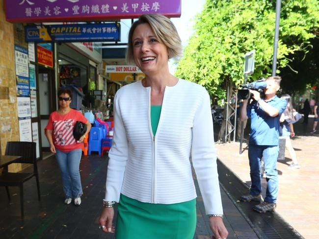 Labor's surprise star candidate for Bennelong Kristina Keneally on the campaign trail. Britta Campion/The Australian