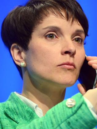 Frauke Petry is not afraid to use a Trump-style approach to grab headlines. Picture: Thomas Lohnes/Getty Images