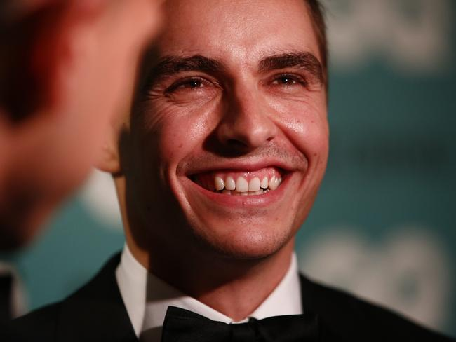 Actor Dave Franco showed his cheeky side at the GQ Awards. Picture: Tim Hunter