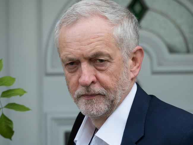 British opposition Labour Leader Jeremy Corbyn is way behind Theresa May in the polls. Picture: AFP