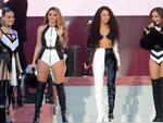 Little Mix (L t R) Perrie Edwards, Jesy Nelson, Leigh-Anne Pinnock and Jade Thirlwal perform at the One Love Manchester tribute concert in Manchester, north western England, Sunday, June 4, 2017. Picture: Dave Hogan via AP