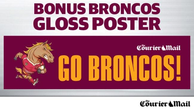 Bonus 'Go Broncos' Gloss Poster