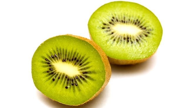kiwi fruit isolated over white