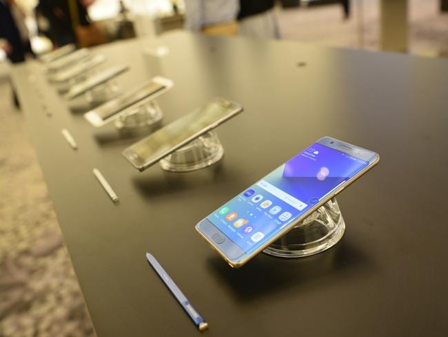 The Samsung Galaxy Note7 is lighter, has increased storage and is water resistant. Picture: Supplied