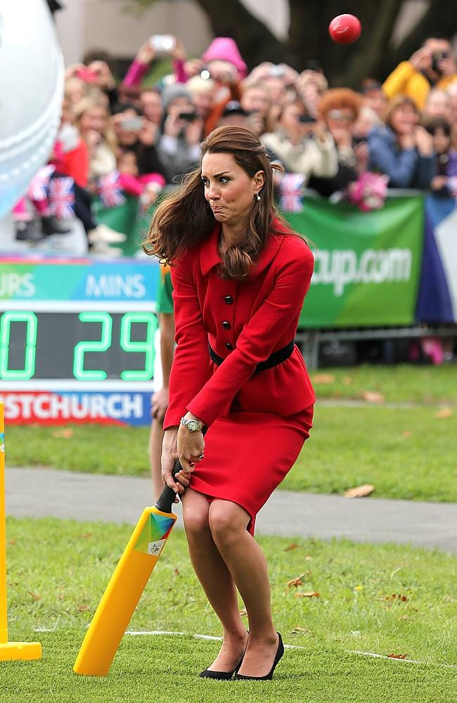Wills nearly bowls Kate over