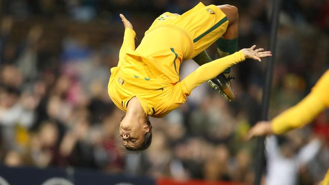 Image result for sam kerr backflip