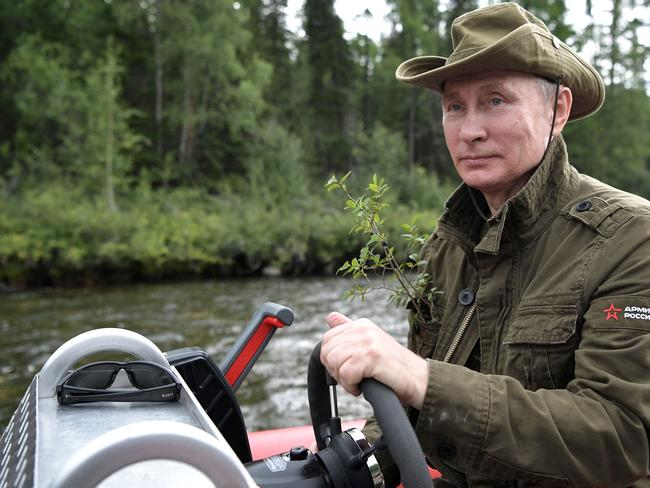 Vladimir Putin fancies himself quite the action man. Picture: AFP/Sputnick/Alexey Nikolsky