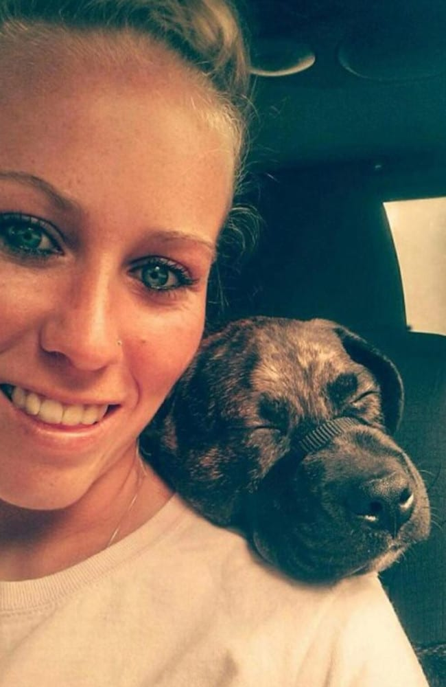 Bethany Lynn Stephens with one of her dogs. Picture: Supplied.