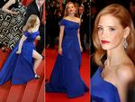 Jessica Chastain walks the red carpet at the Cannes International Film Festival 2014. Pictures: Getty