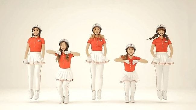 Korean girl group Crayon Pop is producing a new video for their song Bar Bar Bar in the hope of inspiring a global wave of parodies. Picture: YouTube