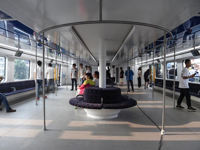 The compartment can hold 300 passengers. Picture: Luo Xiaoguang/Xinhua via ZUMA Wire.