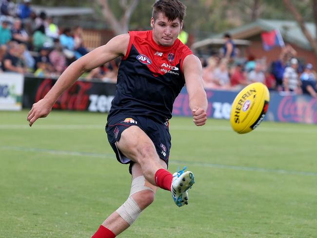 Jesse Hogan hasn't played since the NAB Challenge due to a back injury. Pic Wayne Ludbey.