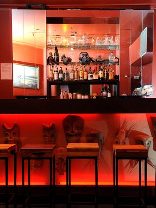 The interior of Ancient World, a new small bar, cafe and nursery.