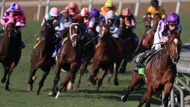Highland Reel scored a big win in the Longines Turf on day two Breeders' Cup World Championships at Santa Anita Park in November last year. Picture: Getty Images