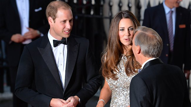 "Britain's Prince William, Duke of Cambridge (L), and his wife Catherine, Duchess of Cambridge (R), arrive to attend the inaugural Tusk Conservation Awards at The Royal Society in London on September 12, 2013. Prince William, patron of Tusk and his wife Catherine attended the awards that aim to celebrate achievement in the field of African conservation. It was announced earlier on September 12 by Kensington Palace that the second-in-line to the British throne, who became a father in July, is leaving Britain's armed forces to take up royal and charity duties, beginning with a key role in a new global wildlife conservation partnership, a group called ""United for Wildlife"". AFP PHOTO / LEON NEAL"