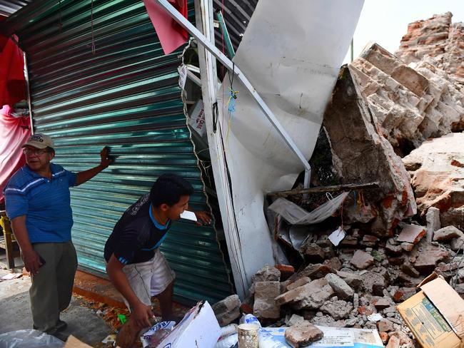 Damage caused by the 8.2 magnitude earthquake that hit Mexico's Pacific coast, in Juchitan de Zaragoza, state of Oaxaca. Picture: AFP
