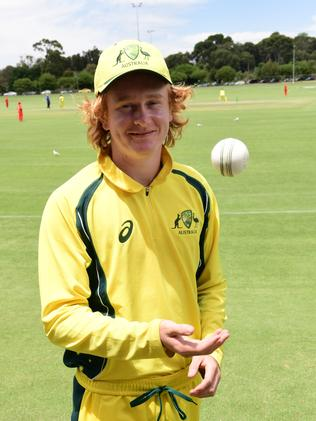 Star SA legspinner Lloyd Pope, who is representing Cricket Australia, has dominated the U19 nationals with the ball. Picture Campbell Brodie.