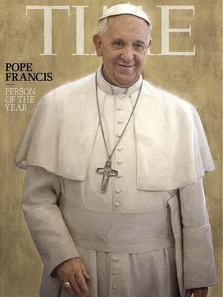 TIME magazine named Pope Francis 2013 Person of the Year. Picture: TIME