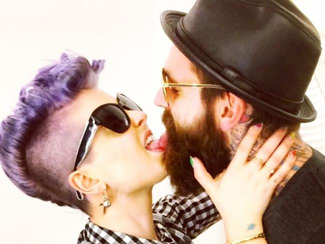 Kelly Osbourne and UK model Ricki Hall. Picture: Instagram
