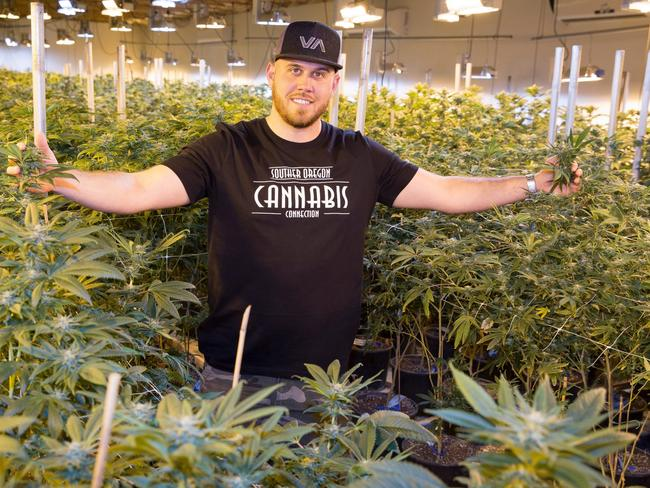 Meghan Markle's nephew Tyler Dooley is a Cannabis farmer who is planning a new drug called Markle's Sparkle. Picture: Mega Agency.