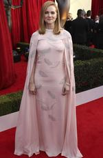 Laura Linney arrives at the 24th annual Screen Actors Guild Awards at the Shrine Auditorium Expo Hall on Sunday, Jan. 21, 2018, in Los Angeles. Picture: Matt Sayles/Invision/AP)