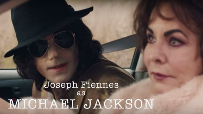 Joseph Fiennes as Michael Jackson and Stockard Channing as Elizabeth Taylor in Urban Myths.