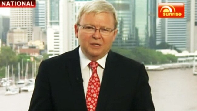 Kevin Rudd has become a regular on the Sunrise program.