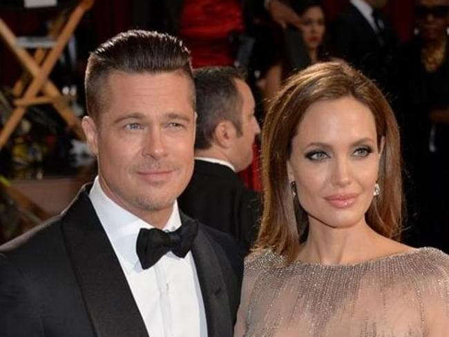 Newlyweds ... Brad Pitt and Angelina Jolie married at their chateau in France last week. Picture: Getty Images