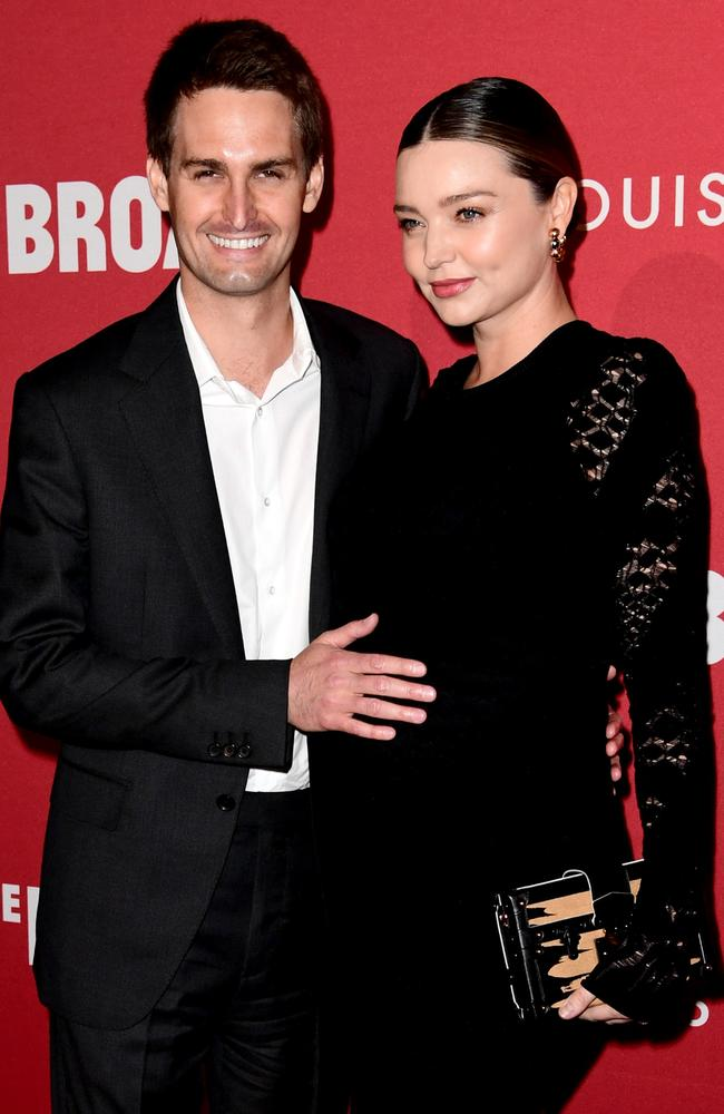 Evan Spiegel and Miranda Kerr are expecting their first baby. Picture: Getty Images