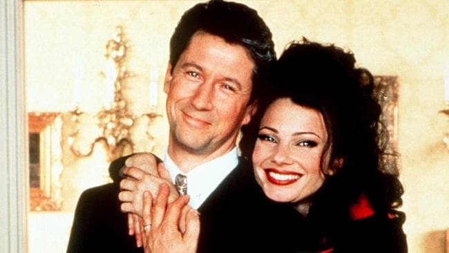 Fran Drescher with Charles Shaughnessy from The Nanny