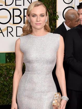Shining silver ... actress Diane Kruger. Picture: Getty Images