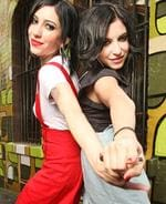 <p>Star designs ... The Veronicas at a fashion shoot which will launch their new designs for budget chain, Target. Pic. Alex Coppel</p>