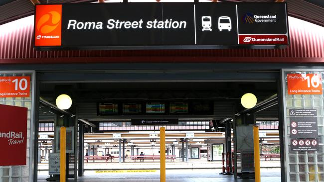 Roma Street Station acts as a barrier in Brisbane's CBD.