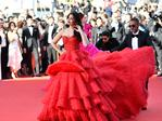 Indian actress Aishwarya Rai Bachchan poses as she arrives on May 20, 2017 for the screening of the film '120 Beats Per Minute (120 Battements Par Minute)' at the 70th edition of the Cannes Film Festival in Cannes, southern France. PIcture: AFP