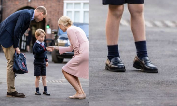 Parents are going gaga over Prince George's school shoes