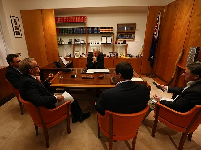 A briefing with Kevin Rudd.