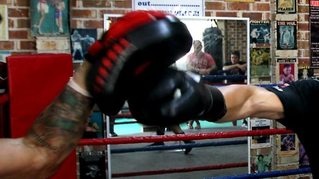 A former soccer player turned boxer set off to find the Twitter user who had been abusing him via the social media networking site. Picture: Gregg Porteous