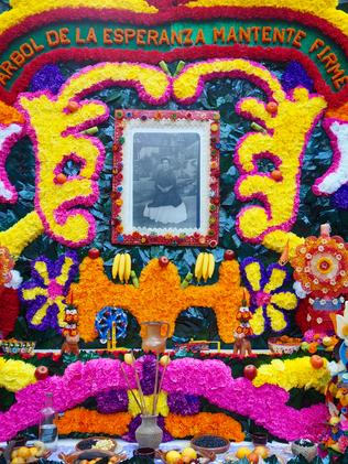 Day of the Dead altar for Frida Kahlo. Picture: Leah McLennan