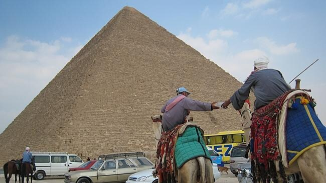 Too small: the not so great pyramids of Giza in Cairo, Egypt. Picture: Melissa Matheson.