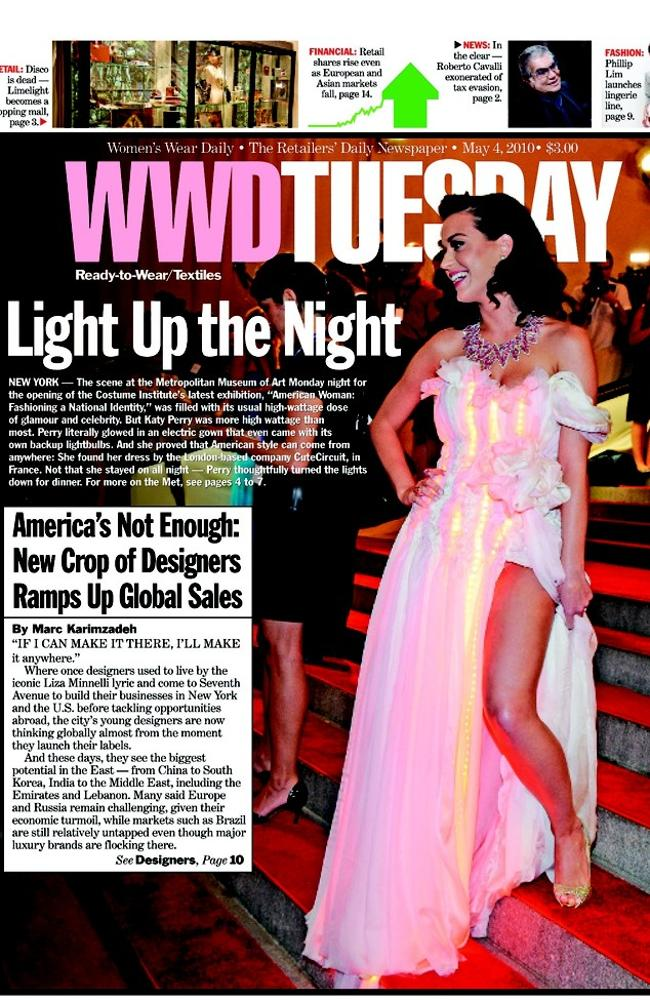 The Women's Wear Daily cover. Picture: Screengrab