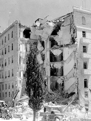 Act of terror ... the bombing of the King David Hotel in 1946 by right-wing Zionist forces killed 91 and wounded 46.