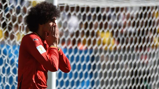 Marouane Fellaini couldn't alter the pattern of the game for Belgium.