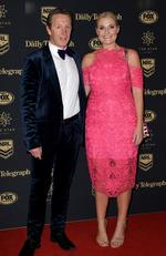 Melbourne Storm coach Craig Bellamy and Rachel Bellamy arrive at the Dally M Awards in Sydney, Wednesday, September 27, 2017. Picture:AAP Image/Dan Himbrechts