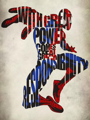 Spiderman poster from Geek My Wall.