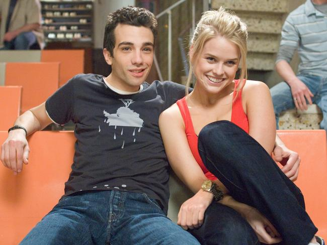 Jay Baruchel with Alice Eve in a scene from the film  <i>She's Out Of My League</i>.