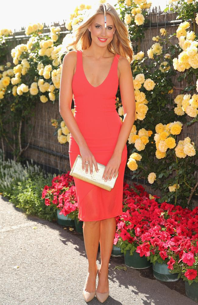 Laura Dundovic on Melbourne Cup Day at Flemington Racecourse. Photo by Scott Barbour