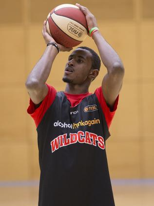 DeAndre Daniels at his first Wildcats training session. Picture: Jordan Shields