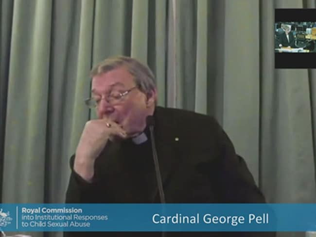 Cardinal George Pell was slumping, fidgeting and giving incoherent answers on the second day of his testimony in Rome.